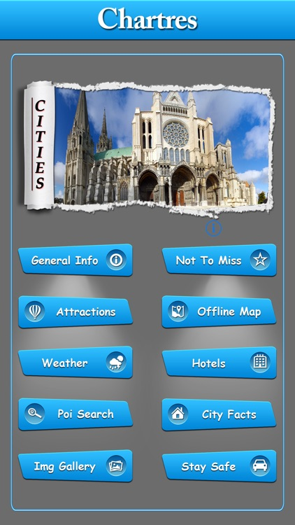 Chartres Offline Map Travel Guide screenshot-0
