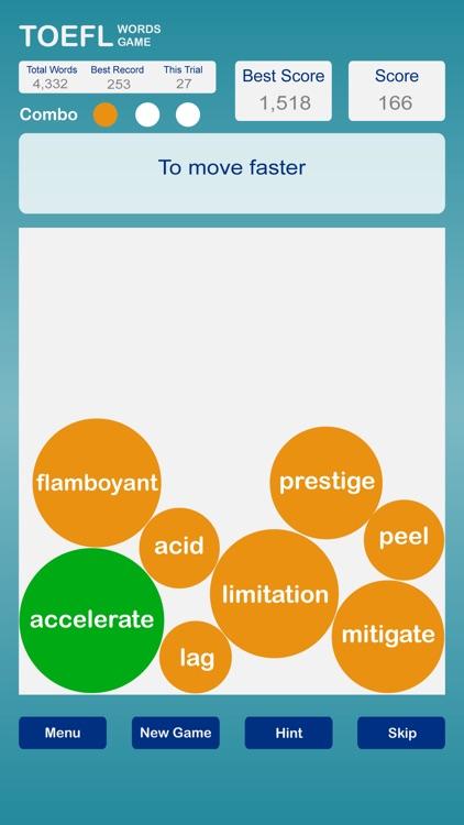 TOEFL Words Game