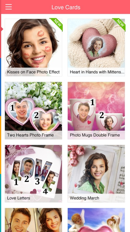 Love Card - double picture frames on Valentine day