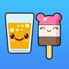 Kawaii Nahrung Emoji Tastatur u. Aufkleber-Sätze