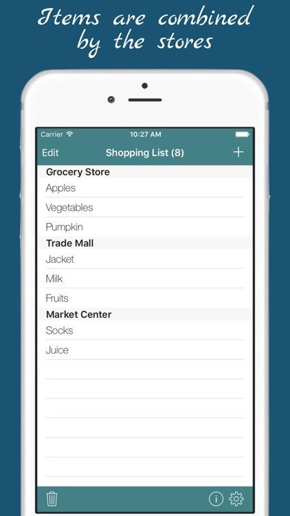 Shopping List - multiple grocery shop lists screenshot-3