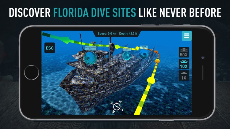 Florida Scuba Diving by Ocean Maps