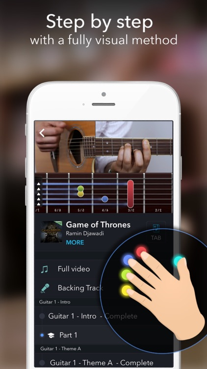 Coach Guitar - Lessons & Easy Tabs For Beginners app image