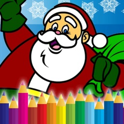 Santa And Christmas Coloring Book Game For Kids