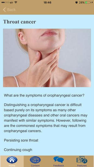 Symptoms of throat cancers 13