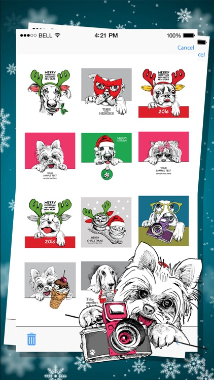 Animals Christmas Dress Up Expressions Stickers