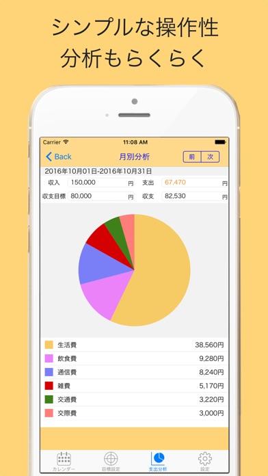こつこつ家計簿-無料で簡単人気のカレンダー家計簿スクリーンショット