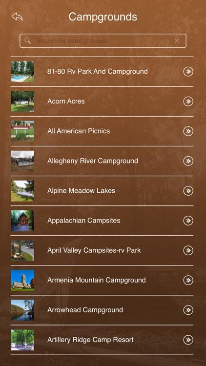 Pennsylvania Camping & RV Parks