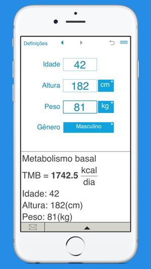 IMC, Metabolismo Basal e Gasto Calórico Diário na App Store