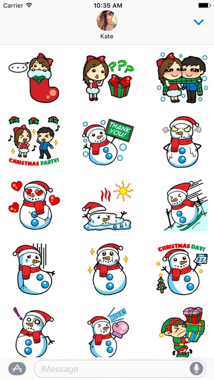Funny Love Xmas Stickers screenshot-1