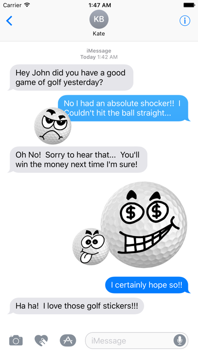 Golf Stickies screenshot one