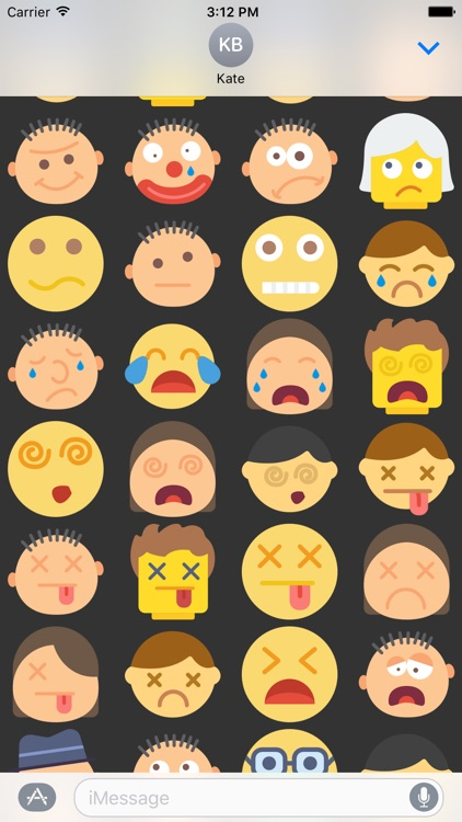 Emoticons Stickers Emojis for iMessage Chat