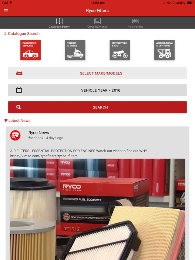 Ryco Filters on the App Store