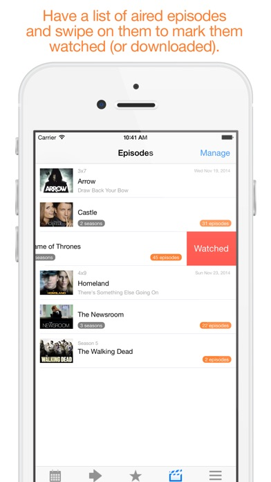 Next Episode - Track TV Shows iPhone