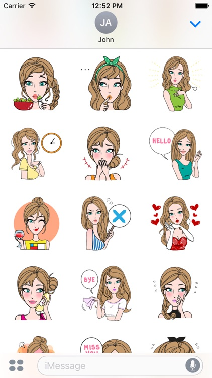 Sharon Vol.1 Stickers for iMessage by AMSTICKERS