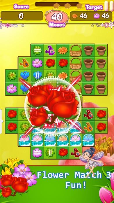 Blossom Garden - Free Flower Blast Match 3 Puzzle