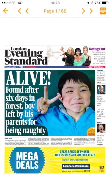 London Evening Standard Digital Edition