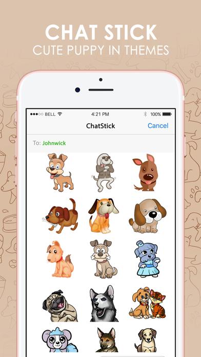Cute Puppy Emoji Sticker Keyboard Themes ChatStick - AppWhip com