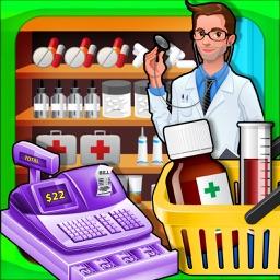 Supermarket Drugstore Cashier - Cash register Sim