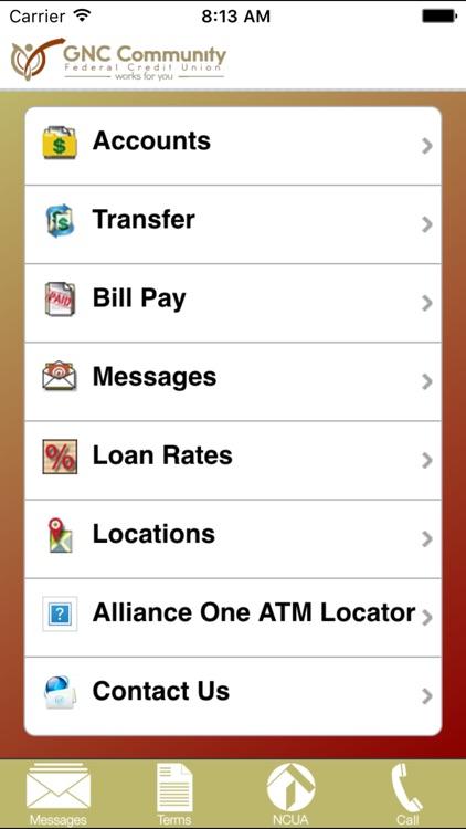 GNC Community FCU Mobile Banking