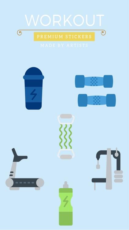 Workout Stickers - Lean machine
