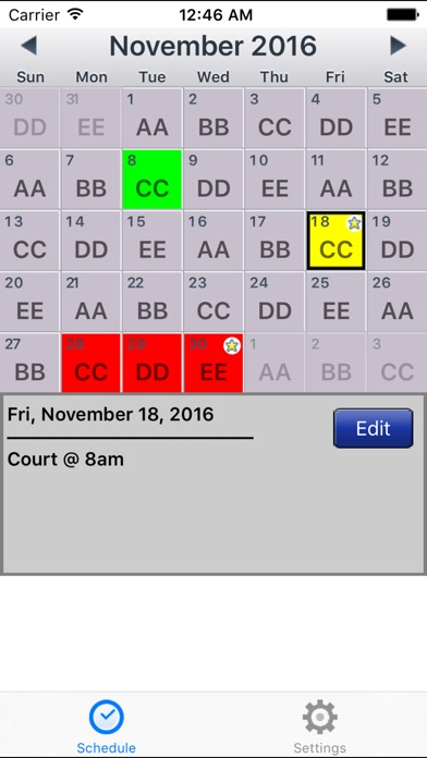 Copapp Calendar Schedule Repeating Shift App review screenshots