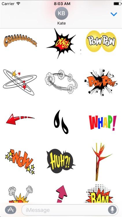 Comic Stickers HD screenshot-4