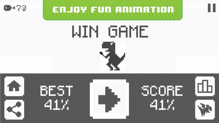 Jura Runner - The Jumping Chrome Dinosaur Game screenshot-3