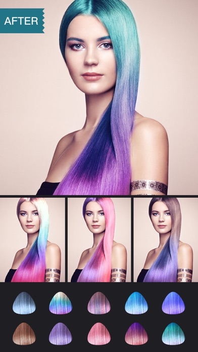 Download Hair Color Dye -Switch Hairstyles Wig Photo Makeup for Pc