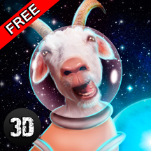 Crazy Space Goat Simulator 3D