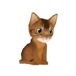 Kitty Cat 3D Animated Stickers: Abyssinian Cat