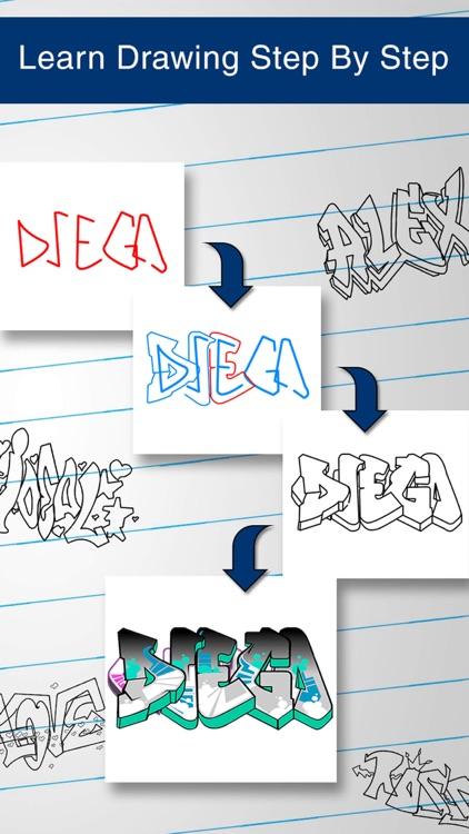 How to Draw Graffiti Art screenshot-4