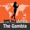 Gambia mapa offline y guía de viaje