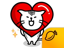 Heart Cat, a best friend of MiM is here in a sticker app