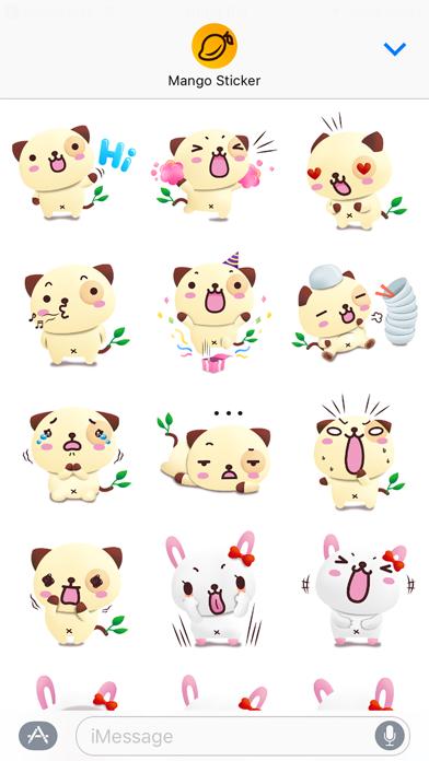 パンダドッグ & フレンズ 3D (Pandadog) - Mango Stickerのスクリーンショット1