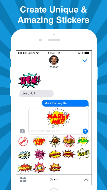 StickyFi - Sticker Maker For iMessage Stickers screenshot-4