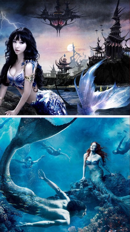 wallpaper beautiful mermaid pictures-#42