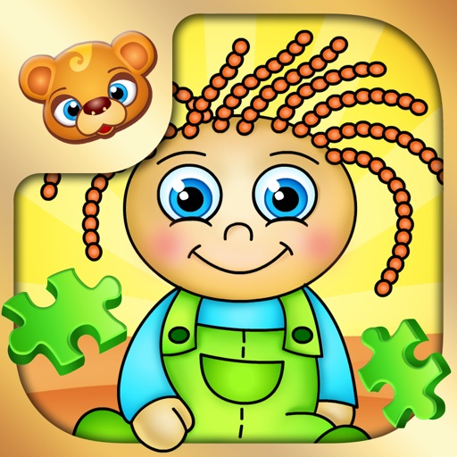 123 Kids Fun PUZZLE GREEN - Top Slide Puzzle Games
