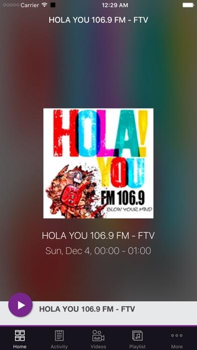 HOLA YOU 106.9 FM - FTV Screenshot on iOS