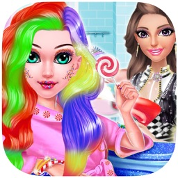 Sweet Candy Make Up Me Salon Game for Girls