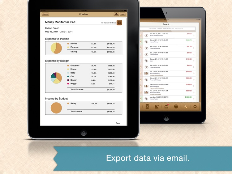 Money Monitor Pro for iPad - Budget & Bill Manager screenshot-4