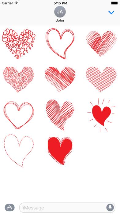 Red Heart Stickers screenshot one