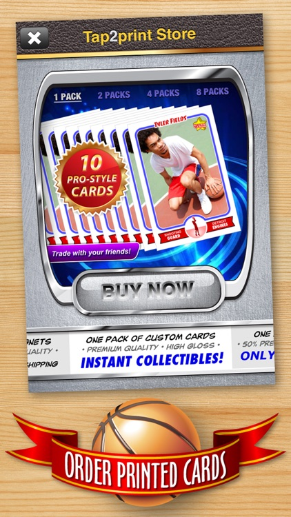 Basketball Card Maker (Ad Free) - Make Your Own Custom Basketball Cards with Starr Cards screenshot-4