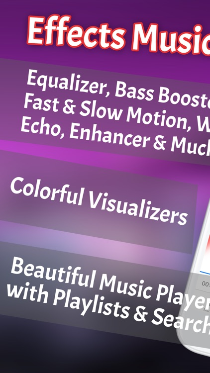 Effects Music Player: Sound Pitch & Bass Booster