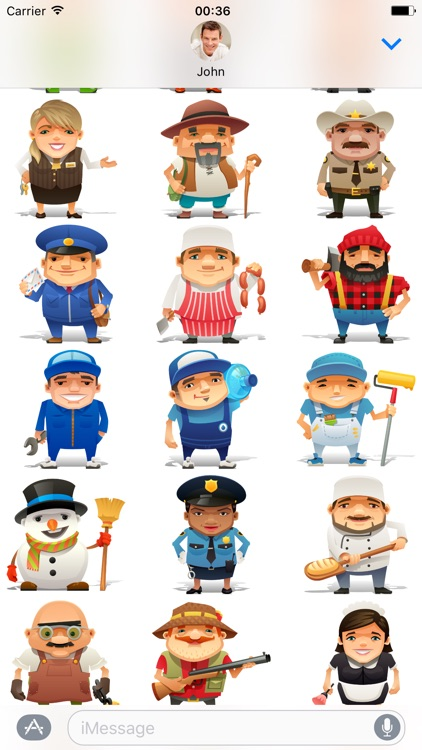 Professions - Stickers for iMessage screenshot-1