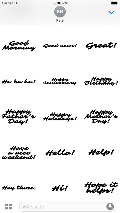 Expressions Handwritten 100+ Stickers screenshot-3