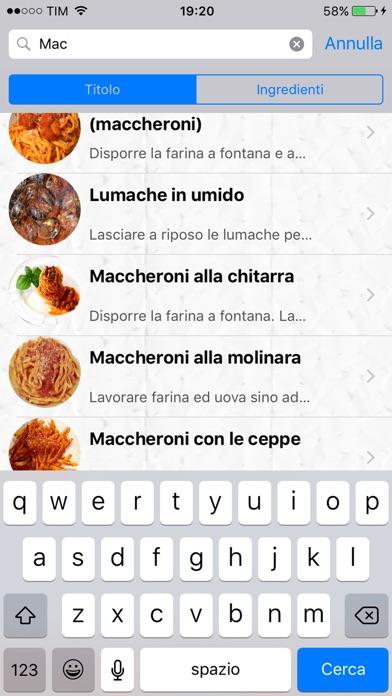 Screenshot for Ricette d'Abruzzo in Venezuela App Store