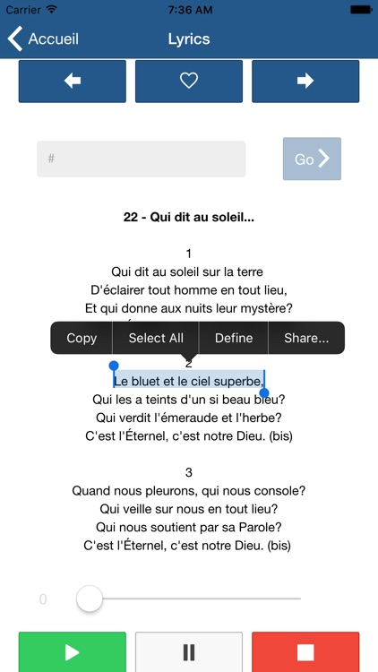 Hymnes et Louanges : SDA hymnal french screenshot-1