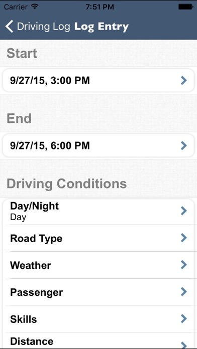 Screenshot for Teen Driving Log in United States App Store