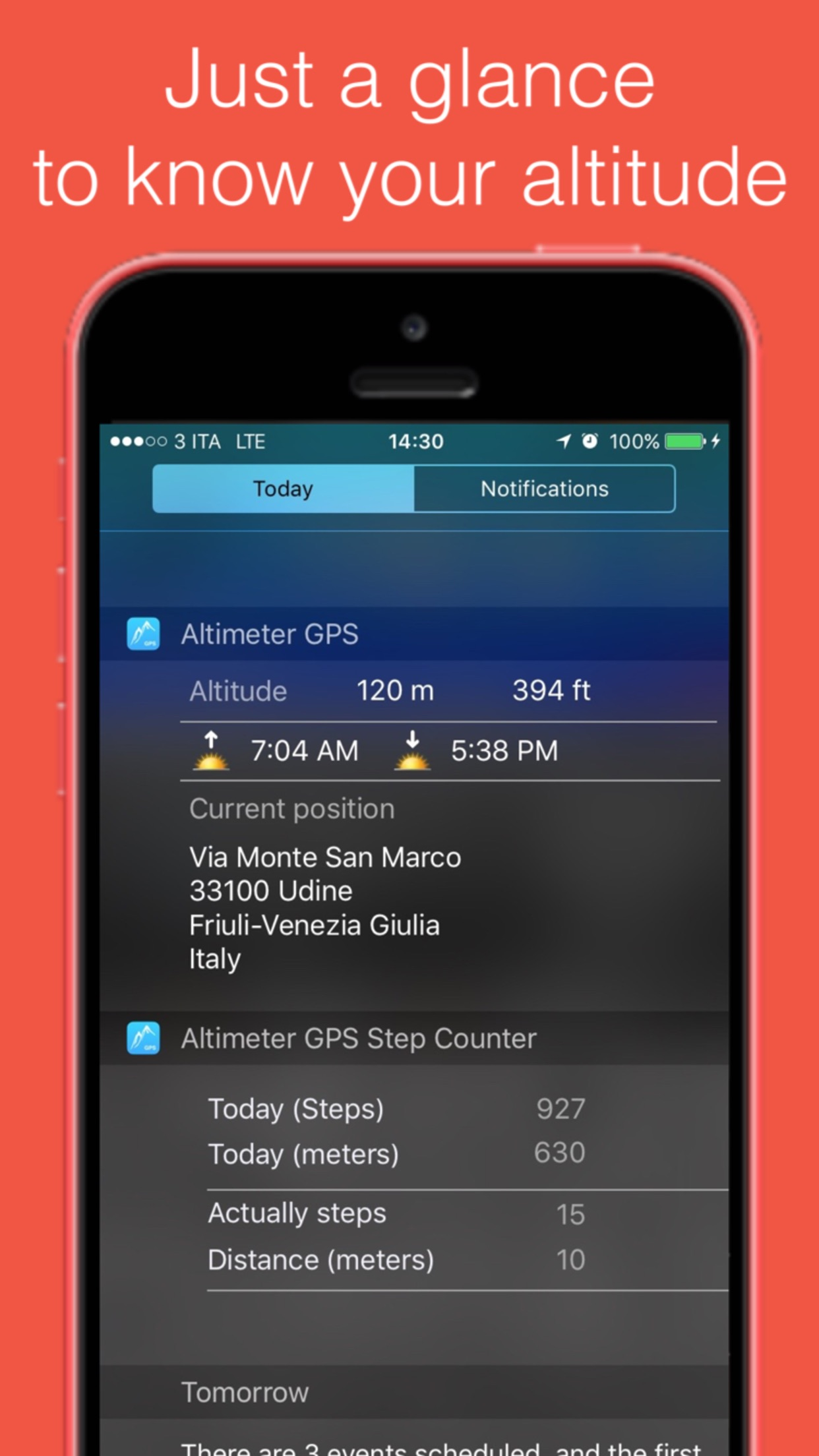 Altimeter GPS with barometer Screenshot